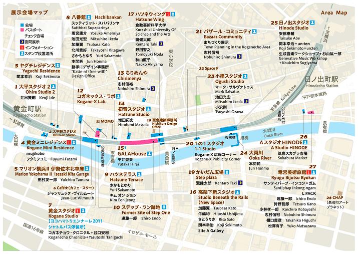 黄金町バザール2011 マップ画像